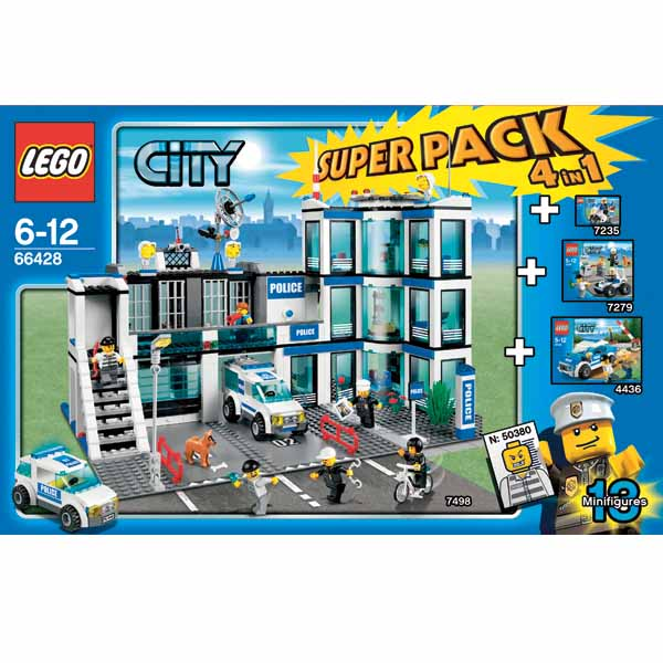Lego SuperPack 66428 Конструктор Лего Суперпэк Город Полиция Подарочный