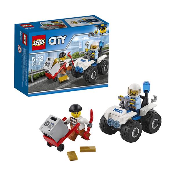 Lego City 60135 Конструктор Лего Город Полицейский квадроцикл часы настольные lego будильник lego city минифигура policeman полицейский
