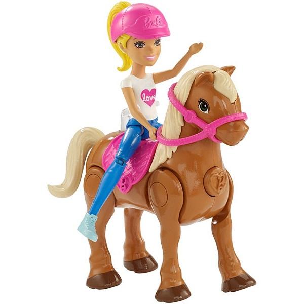 Mattel Barbie FHV63 Барби В движении Пони и кукла