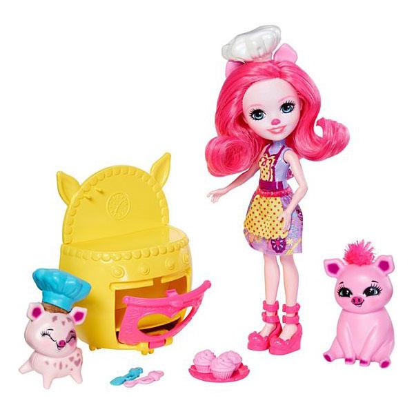 Фото - Mattel Enchantimals FJJ28 Игровой набор Веселая пекарня mattel набор с мини куклой enchantimals весёлая пекарня петти пиг 15 см