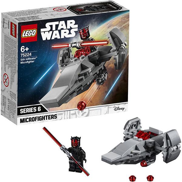 Lego Star Wars 75224 Конструктор Лего Звездные войны Микрофайтеры: Корабль-лазутчик ситхов конструктор lego star wars имперский десантный корабль 75106