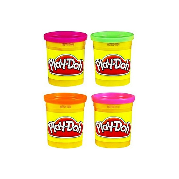 Hasbro Play-Doh 22114 Набор пластилина из 4х банок (неон. цв.) play doh игровой набор магазинчик домашних питомцев