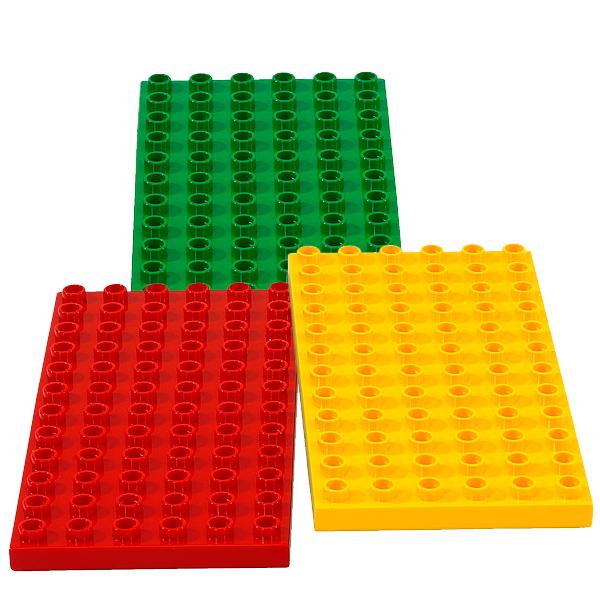 Lego Duplo 2198 Три строительных пластины Дупло