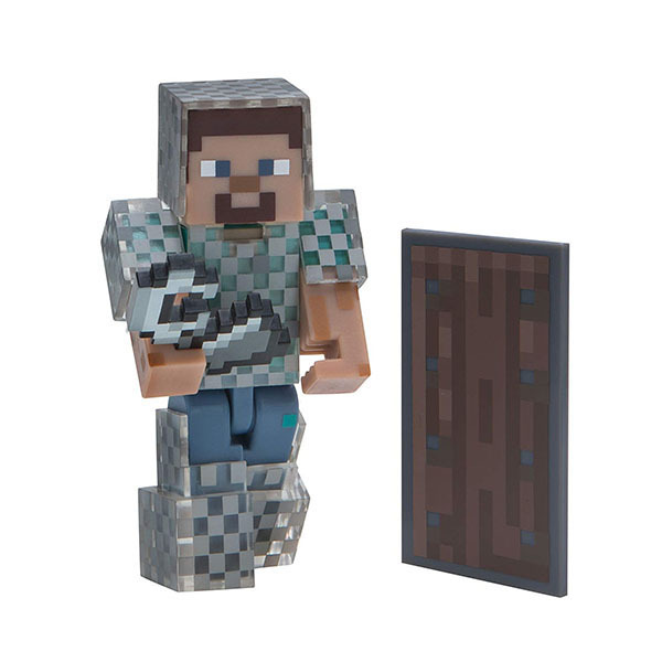 Minecraft 16493 Майнкрафт фигурка Steve in Chain Armor bandai фигурка minecraft mine charact box zombie 4 см