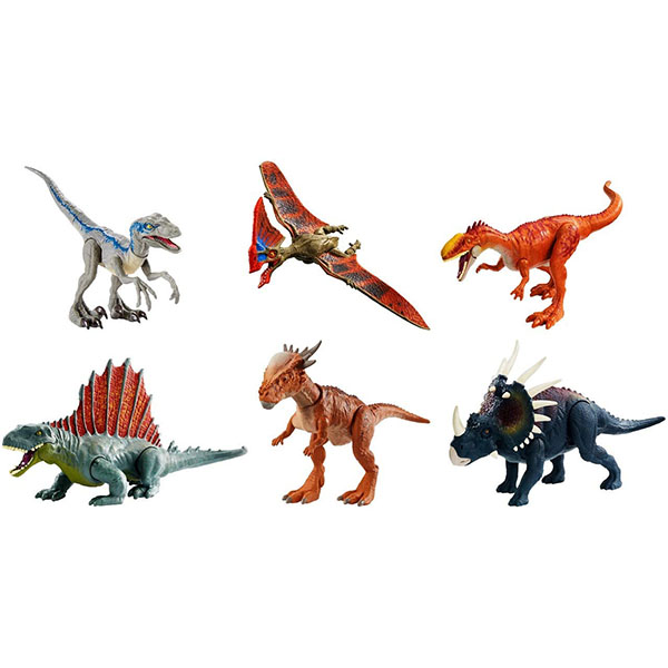Mattel Jurassic World GCR54 Базовые фигурки динозавров (в ассортименте) игровые фигурки happy kin набор динозавров 41093
