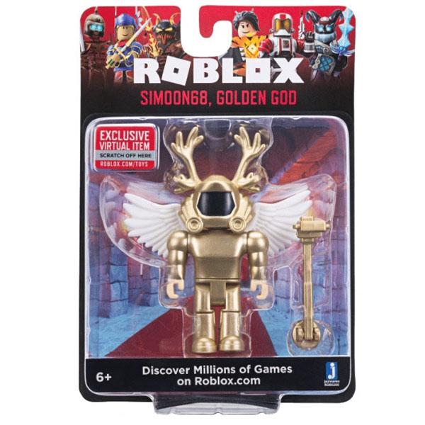 Roblox ROB0200 Фигурка героя Simoon68, Golden God (Core) с аксессуарами