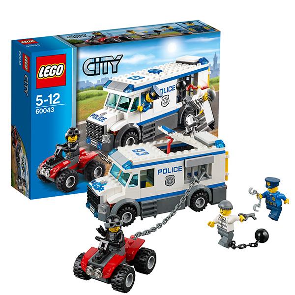 Lego City 60043 Конструктор Лего Город Автомобиль для перевозки заключенных