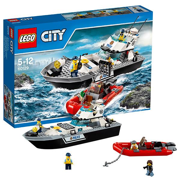 Lego City 60129 Лего Город Полицейский патрульный катер lego lego city 7281 лего город т образная развязка