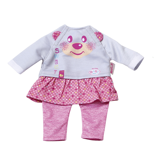 Zapf Creation my little Baby born 823-149 Бэби Борн Комплект одежды для дома, 32 см zapf creation my little baby born 823 149 бэби борн комплект одежды для дома 32 см