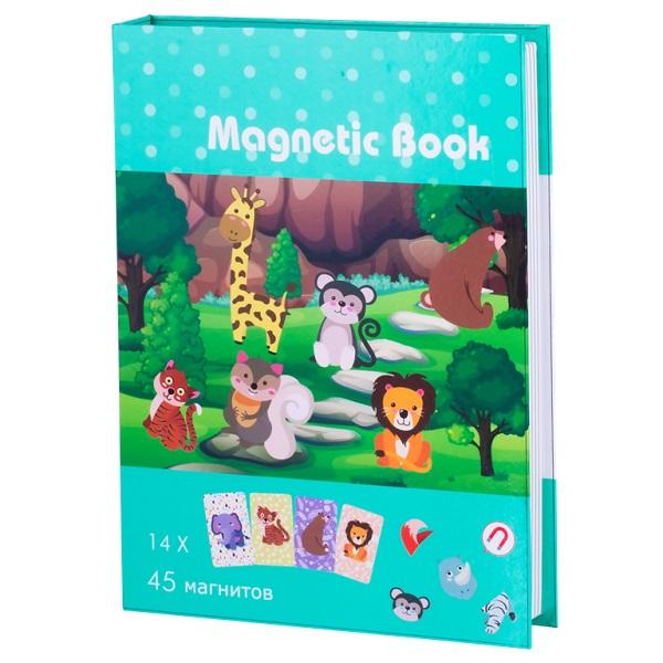 Magnetic Book TAV034 Развивающая игра В зоопарке, 59 деталей книга игра поисковый квест пропажа в зоопарке