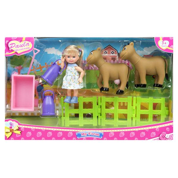 Paula MC23602a Игровой набор В деревне с коровами