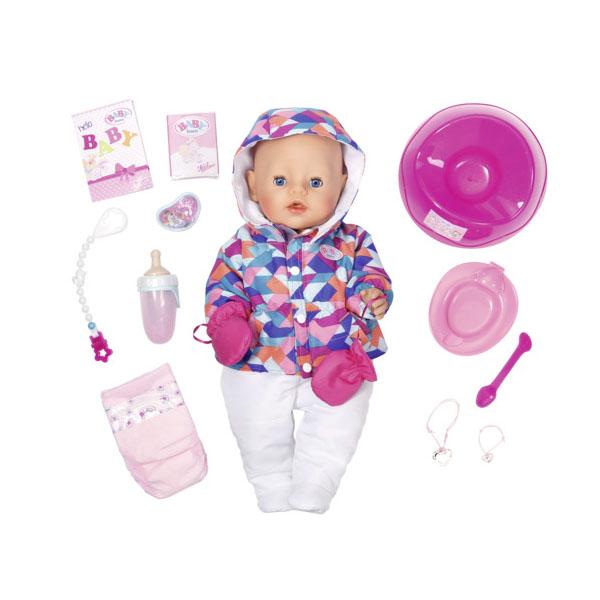 Zapf Creation Baby born 825-273 Бэби Борн Кукла Интерактивная Зимняя пора, 43 см куклы и одежда для кукол zapf creation baby born детское питание 12 пакетиков