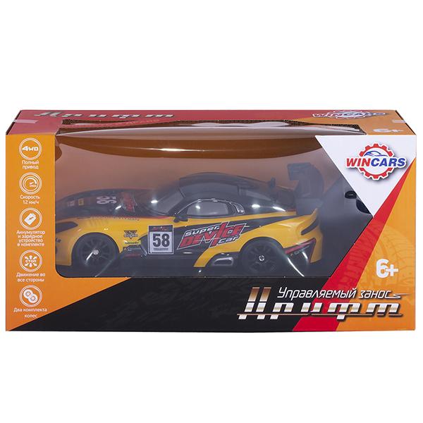 Wincars DS-2007 Дрифтовая машина Р/У, полный привод, масштаб 1:16, ЗУ в комплекте