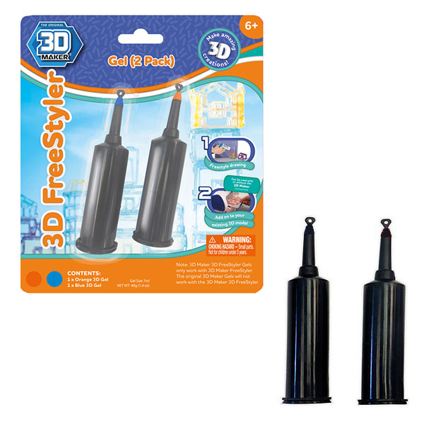 3D Magic 91003 FreeStylE 3D 2 картриджа с гелем abs 1 75 3d 395m