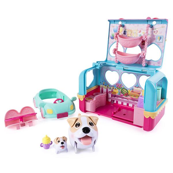 """Chubby Puppies 56725 Упитанные собачки Игровой набор """"Фургон для кемпинга"""""""
