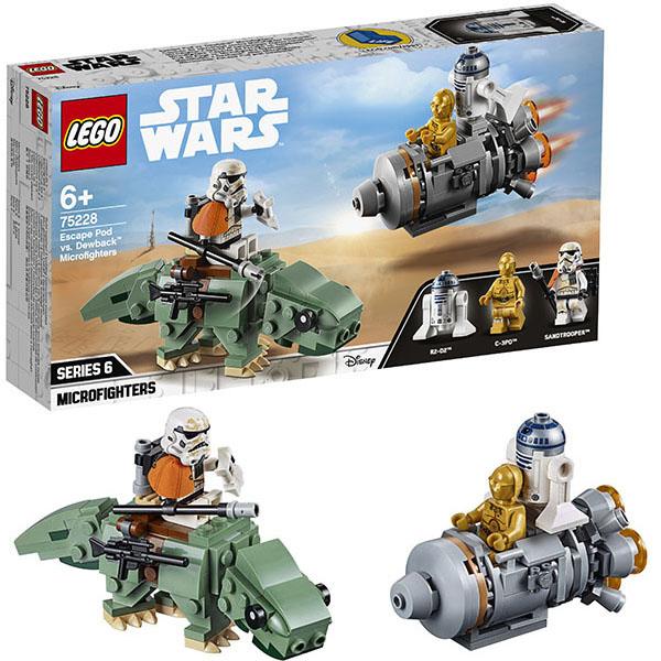 Lego Star Wars 75228 Конструктор Лего Звездные Войны Спасательная капсула Микрофайтеры: дьюбэк lego lego star wars 75078 транспорт имперских войск
