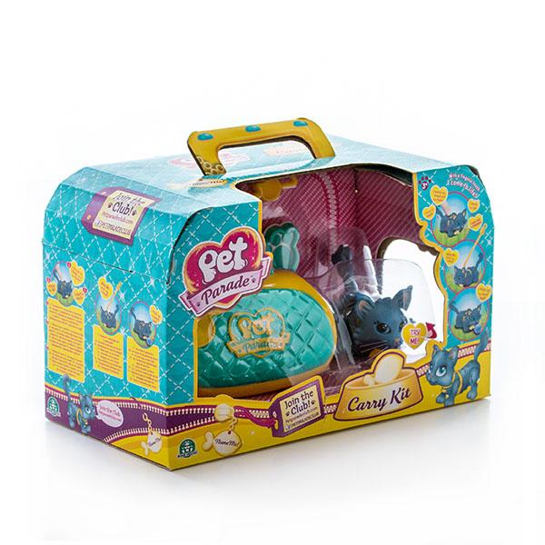 Pet Club Parade PTC03000 Пет Клаб Парад Фигурка кошечки в комплекте с переноской и аксессуарами