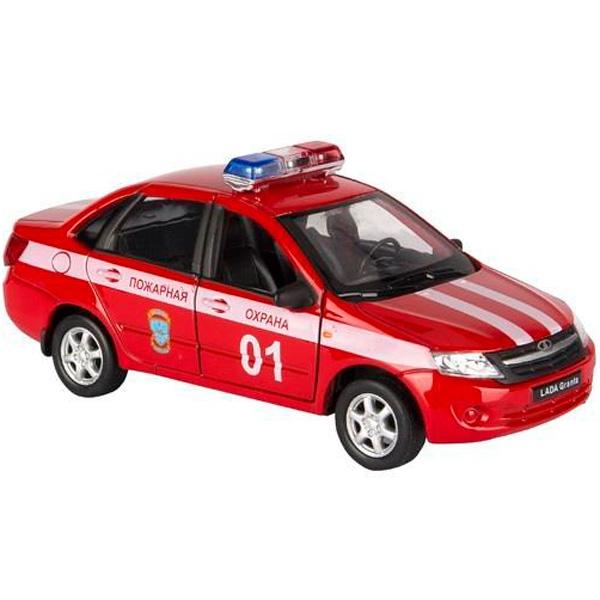 Welly 43657FS модель машины 1:34-39 LADA Granta ПОЖАРНАЯ ОХРАНА welly welly модель машины 1 34 39 lada пожарная охрана