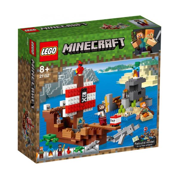 LEGO Minecraft 21152 Конструктор ЛЕГО Майнкрафт Приключения на пиратском корабле