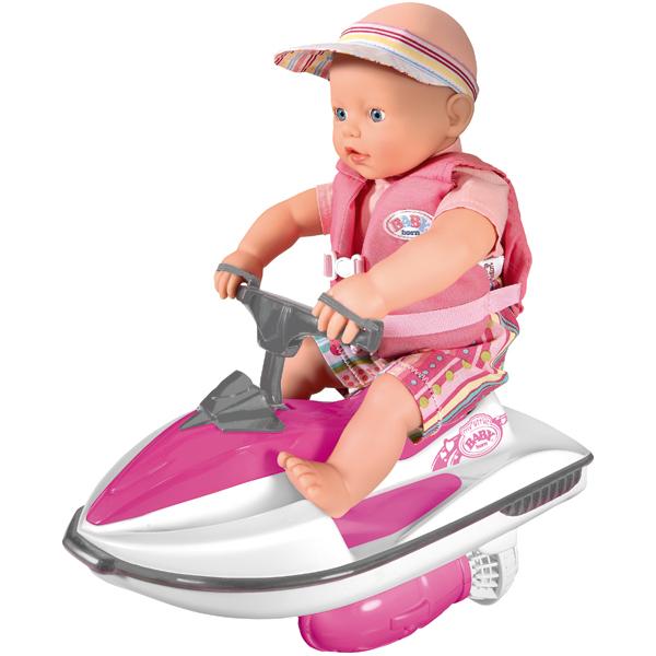 Zapf Creation my little Baby born 813-065_1 Бэби Борн Кукла 32 см на водном скутере