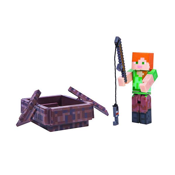 Minecraft 16491 Майнкрафт фигурка Alex with Boat bandai фигурка minecraft mine charact box alex 4 см