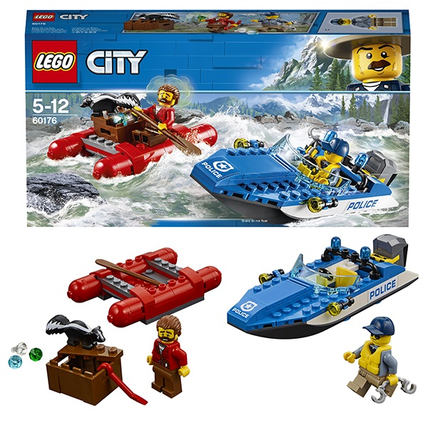 Lego City 60176 Конструктор Лего Город Погоня по горной реке конструкторы lego lego игрушка город набор для начинающих остров тюрьма модель 60127 city