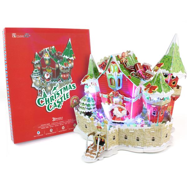 Cubic Fun P646h Кубик фан Сказочный рождественский замок (с подсветкой) cubic fun p803h кубик фан рождественский коттедж