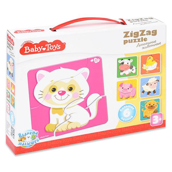 BABY TOYS TD02500 Пазлы макси ЗИГЗАГ Домашние животные, (18 эл.) baby toys парные макси пазлы baby toys чей малыш 20 элементов