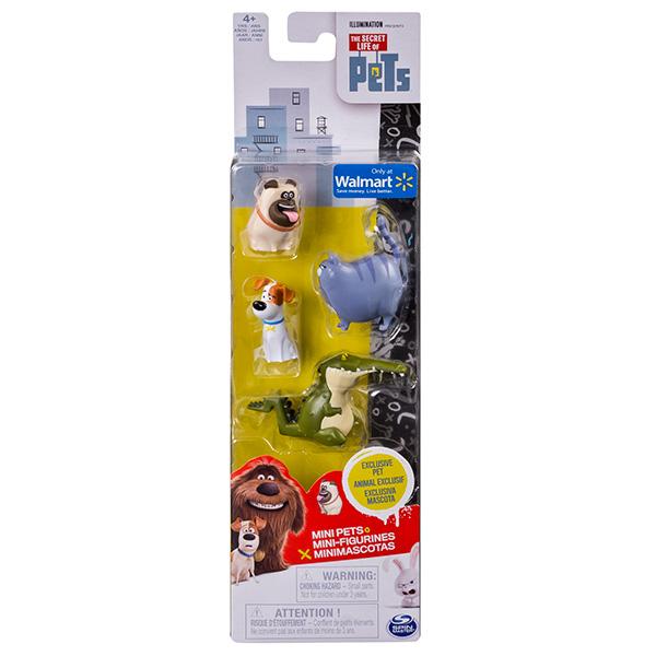 Secret Life of Pets 72818 Тайная жизнь домашних животных Мини-фигурки 4 шт (в ассортименте)
