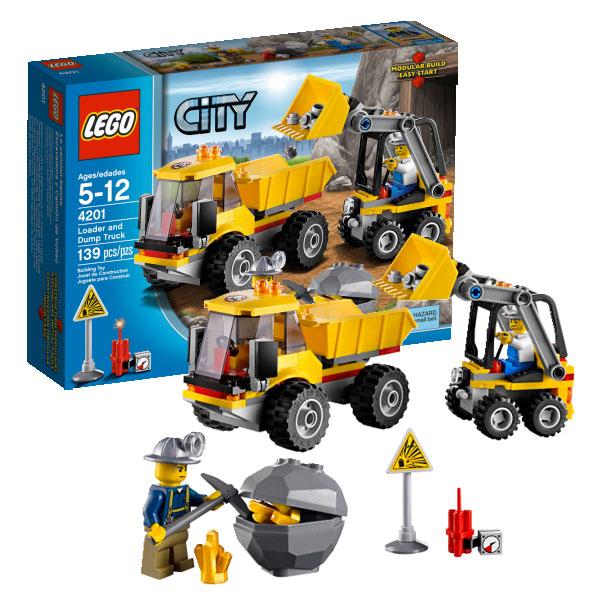 Lego City 4201_1 Конструктор Лего Город Погрузчик и самосвал