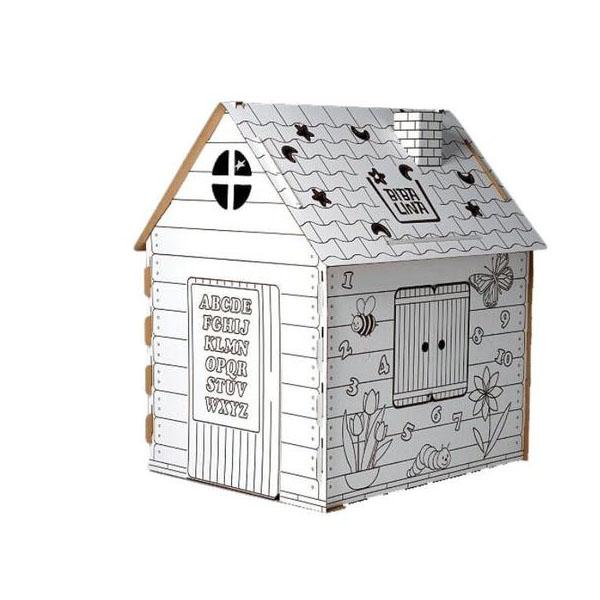 Фото - Бибалина BL-4002 Домик-раскраска картонный (Английский алфавит) mochtoys раскраска картонный домик 10721