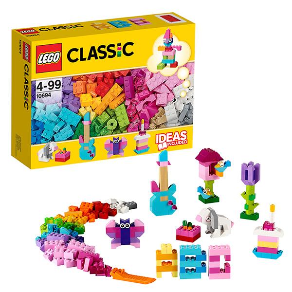 lego lego classic 10709 оранжевый набор для творчества Lego Classic 10694 Лего Классик Набор для творчества - пастельные цвета