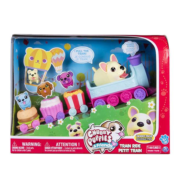 Chubby Puppies 56726 Упитанные собачки игровой Набор паровозик/колесо обозрения