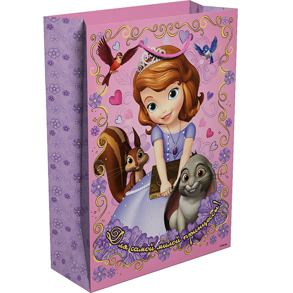 Пакет подарочный R33159 Для принцессы 350*250*90, София росмэн пакет подарочный маша новогодняя 350 250 90