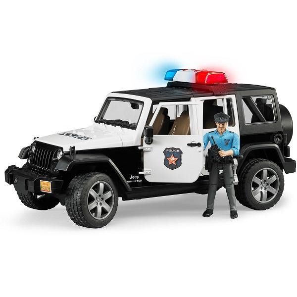 Фото - Bruder 02-526 Внедорожник Jeep Wrangler Unlimited Rubicon (полиция с фигуркой) внедорожник bruder jeep cross counrty racer 02 541 29 см голубой