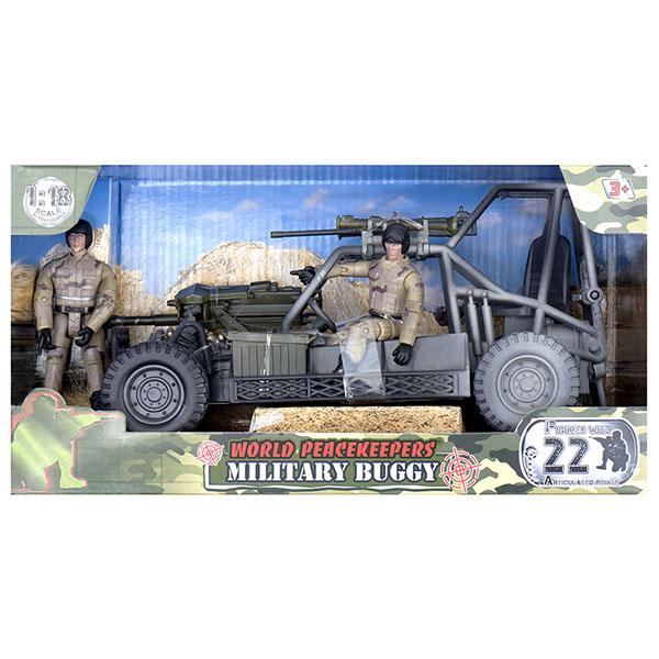 игровые фигурки World Peacekeepers MC77022 Игровой набор Багги 2 фигурки, 1:18