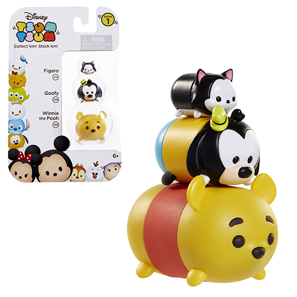 Tsum Tsum 980080 Фигурка коллекционная, упаковка из 3 шт 10pcs set tsum cute mini winnie bear stitch piggy pvc figure collectible toy 3 8cm kt4064