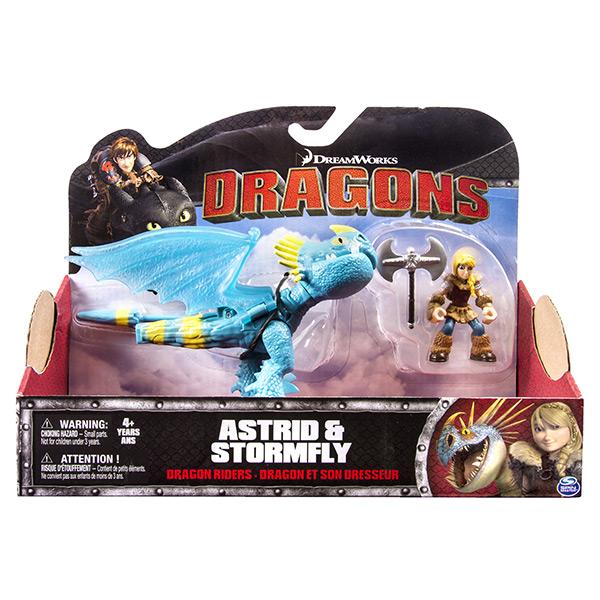 Dragons 66594-Sto Дрэгонс Набор дракон и всадник (Громгильда)