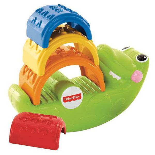 Mattel Fisher-Price CDC48 Фишер Прайс Игрушка-пирамидка Крокодильчик фишер прайс ударяй и играй