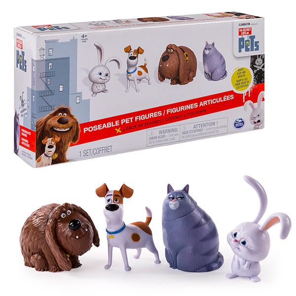 Secret Life of Pets 72815 Тайная жизнь домашних животных Набор из 4 фигурок героев