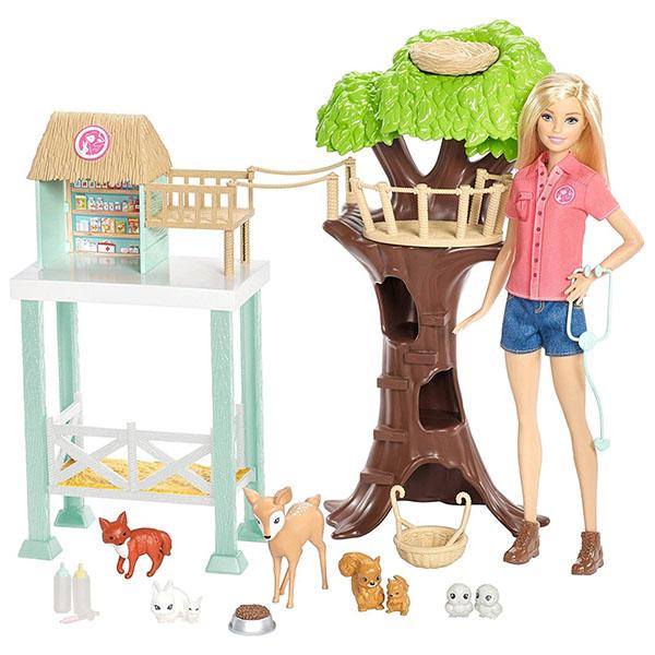 Mattel Barbie FCP78 Барби Игровой набор Спасатель животных