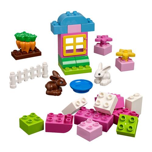 Lego Duplo 4623 Конструктор Розовая коробка с кубиками ДУПЛО