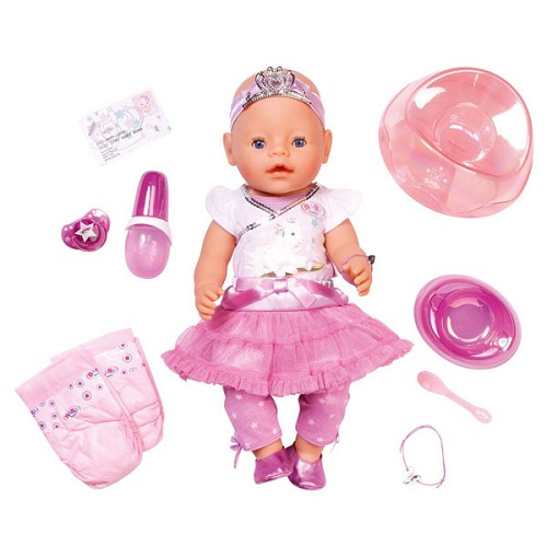 Zapf Creation Baby born 818-145_1 Бэби Борн Кукла Принцесса Интерактивная, 43 см