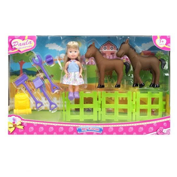 цена на Paula MC23602c Игровой набор В деревне с лошадьми