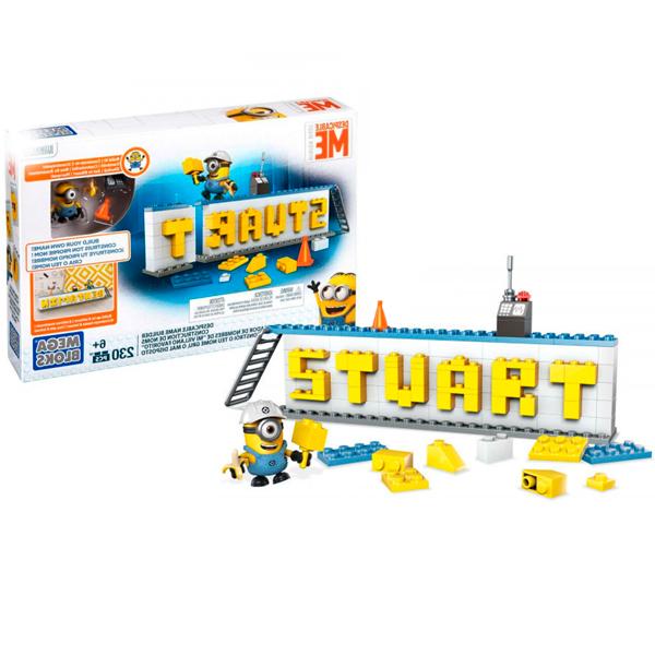 цена на Mattel Mega Bloks DRV32 Мега Блокс Конструктор Гадкий Я Табличка для имени