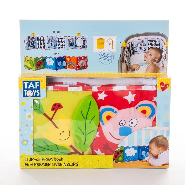 Taf Toys 10635 Таф Тойс Развивающая книжка с клипсами в ассортименте