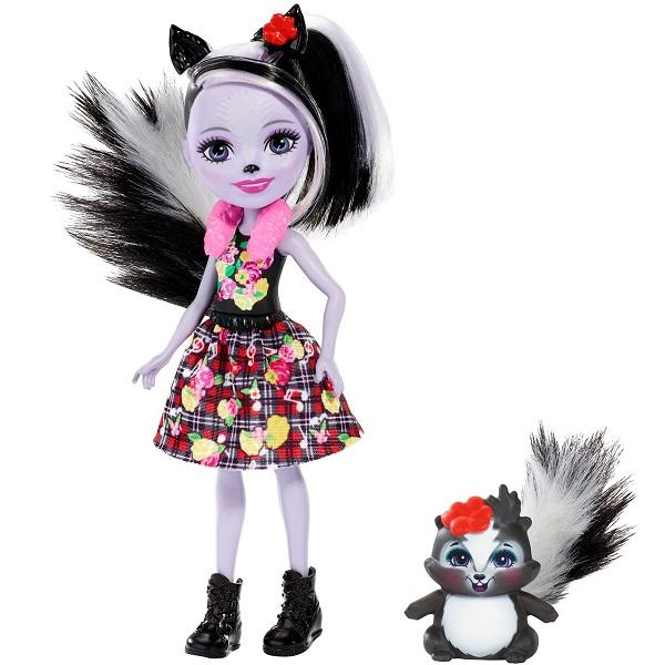Mattel Enchantimals FXM72 Кукла с питомцем Скунси Седж