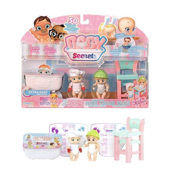 Zapf Creation Baby Secrets 930-175 Бэби Секрет Набор с детским стульчиком zapf creation baby secrets 930 328 бэби секрет набор с садовыми качелями