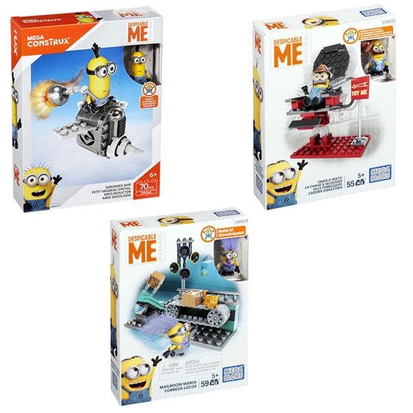 Mattel Mega Bloks DMV29 Мега Блокс Миньоны: игровые наборы, серия III mymei 1 комплект 12шт набор гадкий я 2 миньоны рисунок игрушки в розницу 96408