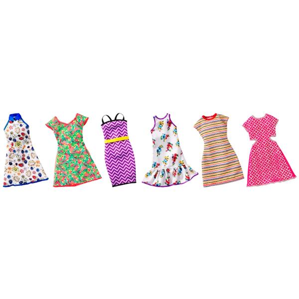 Mattel Barbie FCT12 Барби Универсальные платья для кукол (для всех типов фигур) (в ассортименте) платья с принтами